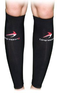 Calf Compression Sleeve (1 Pair)   Best to Guard Against Shin Splints   Men's and Women's Black Compression Leg Sleeves for Running, Jogging, Walking, Marathon and Fitness Athletes   Comfortable, Breathable, Good Circulation for Travel   Great Revi
