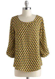 VP NO REPS:Parquet for the Course Top  Mod Retro Vintage Short Sleeve Shirts
