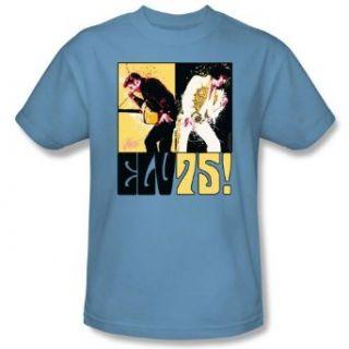Elvis Presley STILL THE KING Short Sleeve Adult Tee CAROLINA BLUE T Shirt Clothing