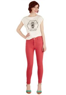 Forever and a Daytrip Jeans in Coral  Mod Retro Vintage Pants