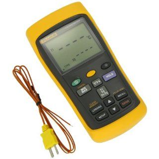 Fluke 54 2 Dual Input Digital Thermometer with USB Recording, 3 AA Battery,  418 to 3212 Degree F Range, 60 Hz Noise Rejection Industrial & Scientific