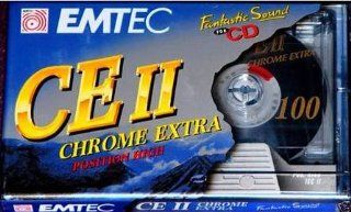 EMTEC CE II CHROME EXTRA 100 minutes CASSETTE TAPE Electronics