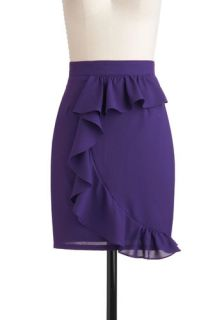 Ryu Go to Grape Lengths Skirt  Mod Retro Vintage Skirts