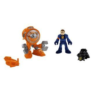 Fisher Price Imaginext Robot Police   Deep Sea Robot: Toys & Games