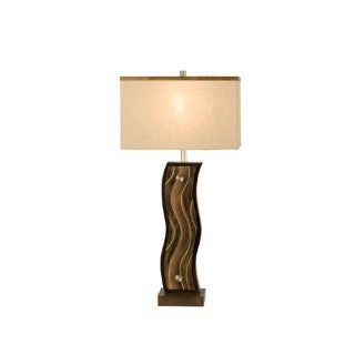 Nova 12239 Copper Creek Colored Acrylic Table Lamp, Root beer with Tan Linen Shade