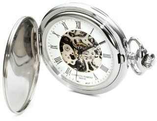 Charles Hubert, Paris 3918 Premium Collection Stainless Steel Mechanical Pocket Watch at  Men's Watch store.