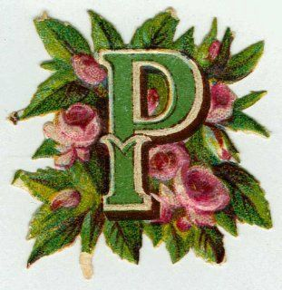 OLD FASHIONED ALPHABET LETTER P