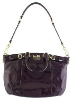 Coach Madison Patent Leather Sophia Convertiable Satchel Bag Purse Tote 18613 Plum Clothing