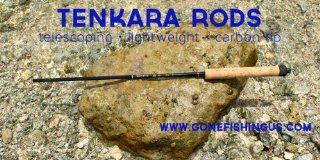 TENKARA TELESCOPING Carbon Fly Fish Rod 7 ft 4 in with CORK Handle (2.4M) by GFUSA  Sports & Outdoors