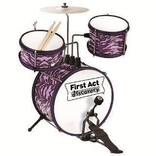 First Act Junior Drum Set   Purple Zebra: Toys & Games