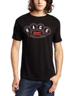 FEA Merchandising Men's Rage Against The Machine Brass Knuckles Slim Fit T Shirt: Fashion T Shirts: Clothing