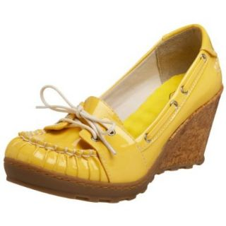 Original Dr. Scholl's Women's Seashore Boat Shoe, Yellow, 7.5 M US: Shoes