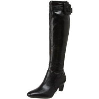 Franco Sarto Women's Maritime Knee High Boot, Black Premium Stretch, 5 M US: Shoes