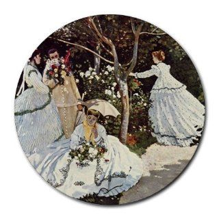 Women in the Garden By Claude Monet Round Mouse Pad