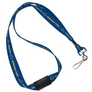 MONTANA STATE BOBCATS OFFICIAL LOGO LANYARD KEYCHAIN : Sports Related Key Chains : Sports & Outdoors