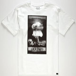 Skrewed Mens T Shirt White In Sizes Xx Large, Large, X Large, Small, Mediu