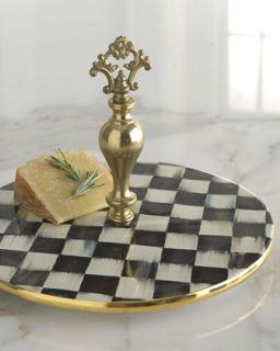 Courtly Check Cheese Platter   MacKenzie Childs