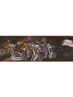 Harley Davidson Riders Wallpaper Border in Kidding Around