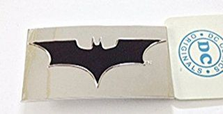 Batman Dark Knight Rises Begins Black BAT in Chrome Silver Rectangular Finished Logo Belt Buckle.  Other Products