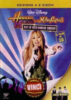 hannah montana e miley cyrus. best of both worlds concert (3d) (2 dvd) dvd Italian Import: miley cyrus, mandy jiroux, bruce hendricks: Movies & TV