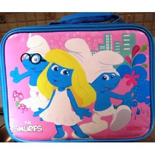 The Smurfs Insulated Zippered Rectanglar Shaped Lunch Bag By Thermos: Toys & Games