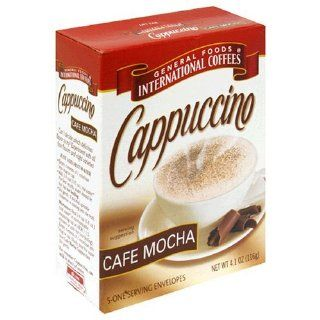 General Foods International, 100 Calorie Packs CAPPUCCINO Mix Cafe Mocha 5 Envelops  Instant Coffee  Grocery & Gourmet Food