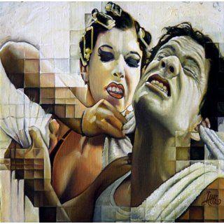 Art: The Ol' Handkerchief Gag : Oil : Lee Harvey Roswell