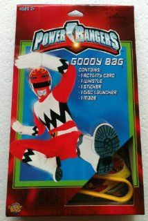 Power Rangers Goody Bag Contains: Activity Card, Whistle, Sticker, Disc Launcher & Maze (2 Pack): Toys & Games