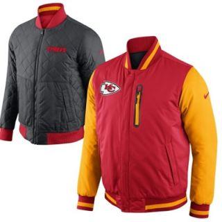 Nike Kansas City Chiefs Defender Reversible Full Zip Jacket   Red/Gold