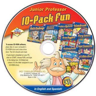 Ages 7 10 Educational Software Bundle 10 Different Titles on 1 CD Rom For Kids Age 7 8 9 10 Grade 2 3 4 5 Elementary Children Junior Professor CD Rom in English & Spanish Action Arcade, Brain Bogglers, Math Challenge, Perplexing Puzzles, Puzzles and My
