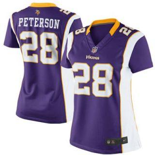 Nike Adrian Peterson Minnesota Vikings Womens Limited Jersey   Purple