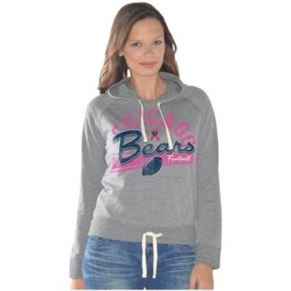 Chicago Bears Ladies Breast Cancer Awareness Alma Mater Tri Blend Pullover Hoodie   Ash