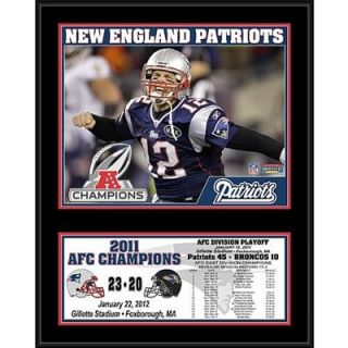 New England Patriots 2011 AFC Conference Champions Sublimated 12 x 15 Plaque