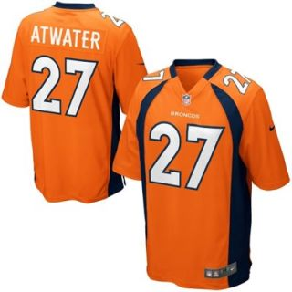 Nike Steve Atwater Denver Broncos Retired Player Jersey   Orange/Navy Blue