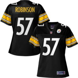 Pro Line Womens Pittsburgh Steelers Adrian Robinson Team Color Jersey