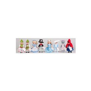 2010 Madame Alexander 8 Pcs. Doll Set Factory Sealed From Mcdonalds Contains Alice in Wonderland , Mad Hatter , Cinderella , Prince Charming , Gretel , Hansel , Little Red Riding Hood , Wendy As the Big Bad Wolf Toys & Games