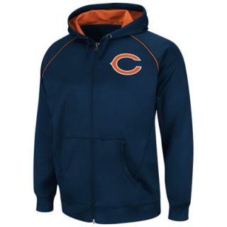 Chicago Bears Coverage Sack III Synthetic Full Zip Fleece Hoodie   Navy Blue