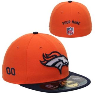 New Era Denver Broncos Mens Customized On Field 59FIFTY Football Structured Fitted Hat