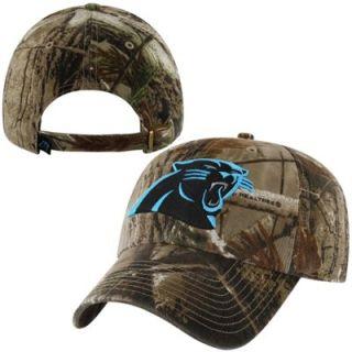 47 Brand Carolina Panthers Helmet Clean Up Adjustable Hat   Realtree Camo