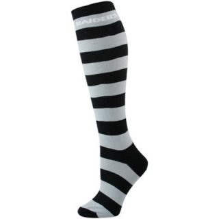 Oakland Raiders Ladies Black Silver Striped Rugby Socks