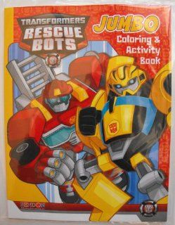 Hasbro Transformers Animated Rescue Bots 64 pg. Coloring and Activity Book. Heat Sealed in a Copyrighted Labeled Sleeve. Enjoy all your favorite Autobots/Action Figures. Optimus Prime, Bumblebee, Heatwave, Chase, Blades, Boulder and more while doing the pu