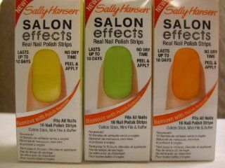 Sally Hansen Salon Effect Variety Pack Nail Polish Strips: Health & Personal Care