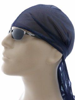 NAVY BLUE Du Rag, Du Rag, DuRag, Doo Rag, Wave Cap, Headwrap, Comfortable, Expanding, Breathable Material, Fits Most Head Sizes For Men, Women and Teens, Use During Sports Play, While Sleeping, Everyday Use, Wear Under Baseball Caps and Hats : Fashion Head
