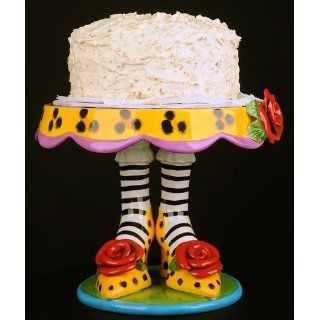 Appletree 10 Inch Sugar High Social by Babs Ceramic Cake Stand Kitchen & Dining