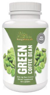 Pure Green Coffee Bean Extract with Pure Svetol Coffee Beans Dietary Supplement and 50% Chlorogenic Acids As Seen on Dr. Oz, Formulated Especially for Launching Your Green Coffee Bean Diet   Premium Quality   Fully Guaranteed By Manga Naturals Health &amp