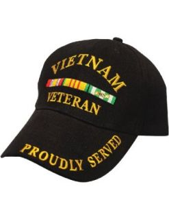 Veteran Proudly Served In Vietnam War Cap: Baseball Style Hat: Clothing