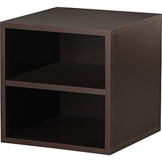 Foremost Holdems Modular Cube Storage System, Espresso 15H x 15W x 15D Shelf Cube