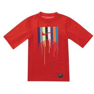 Nike Rash Guard S/S T Shirt   Boys Grade School   Casual   Clothing   Hyper Red
