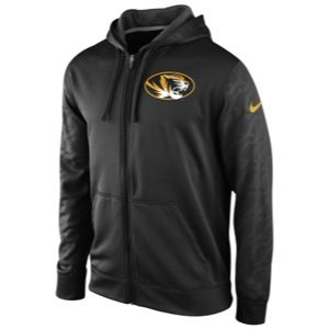 Nike College KO ThermaFit Full Zip Hoodie   Mens   Football   Clothing   Missouri Tigers   Black