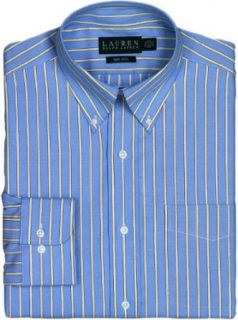 "Lauren Ralph Lauren Classic Fit Striped Oxford Dress Shirt, French Blue, 16.5"" Neck 34/35 at  Men�s Clothing store"